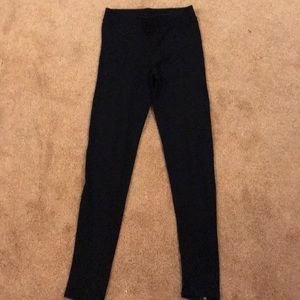 Black leggings with zippers in back, size small!